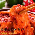延边朝鲜族棵状泡菜辣白菜 450g*2 正宗手工开胃菜