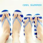 韩版夏款夜光条纹夹脚情侣凉拖 8色可选