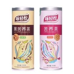 云南咏轻松 黑苦荞茶全胚芽+麦香苦荞茶 两罐装共计500克