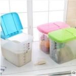 蜜蜜花 加厚防蛀储米箱 面粉桶 3色可选