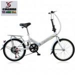 亿事达 折叠自行车20寸 减震单车 变速迷你公路车 多款多色可选