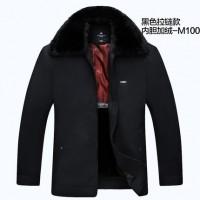 俞兆林 中老年男装棉衣加厚大毛领加绒男士冬装外套爸爸棉袄棉服