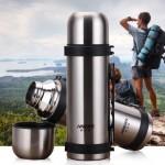 HAERS哈尔斯 HY-1200W-2保温壶 不锈钢保温杯大容量户外旅游壶家用热水瓶水壶
