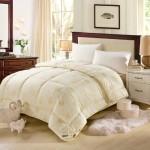 迎馨家纺 双人澳洲羊毛被 10斤加厚冬被芯(米黄)220*240cm