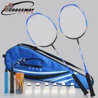 CROSSWAY克洛斯威 羽毛球拍2支装C8正品碳素单拍超轻双拍进攻型 9色可选
