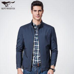 七匹狼 男士夹克2016秋季新品中年修身薄款商务外套立领jacket男装 3色可选
