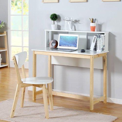 生活诚品 mq50010 简约北欧风书桌椅子组合 实木电脑桌