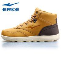 erke鸿星尔克 男鞋冬季休闲棉鞋运动鞋保暖加绒高帮潮板鞋短筒雪地靴 3色可选