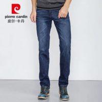 皮尔卡丹 牛仔裤直筒男士弹力裤子修身青年男装商务秋季深色男裤 2色可选