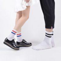 亚鹏 男袜女人袜秋冬季高帮中筒袜保暖舒适男女士棉袜子潮袜5双装*2件