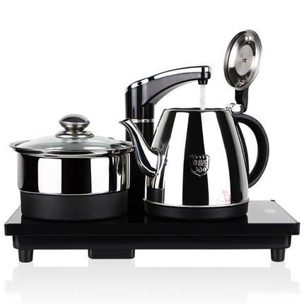茗茶小镇 dr1351自动上水电热水壶304不锈钢电水壶三合一茶具套装 2款