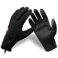 欣云 户外保暖手套跑步男女运动骑行全指冬季登山防风滑雪防水钓鱼抓绒手套 9款可选
