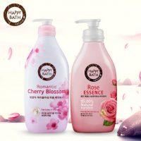 AMore爱茉莉 韩国HAPPYBATH 玫瑰樱花香氛沐浴露液套装500g*2瓶