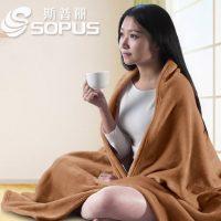 斯普丽 冬季毛毯纯色毯子双人加厚保暖法兰绒毯单人学生毯珊瑚绒盖毯床单 20款可选
