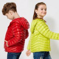 鸭鸭 童装轻薄儿童羽绒服男童女童秋冬保暖中大童短款连帽外套 9色可选