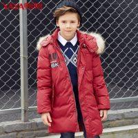 鸭鸭童装 2016年冬季新款男童羽绒服中长款韩版儿童羽绒服宝宝外套 4色可选