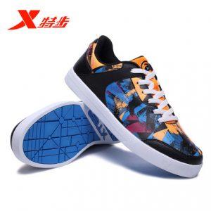 XTEP特步 男鞋板鞋秋冬季新款正品2016滑板鞋休闲鞋运动鞋子 4色可选