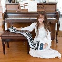 音格格 Q8手卷钢琴便携式88键专业加厚版键盘初学者电子琴成人电钢琴