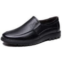 雨之翼誓 男士皮鞋真皮加绒棉鞋休闲鞋男鞋中年人爸爸鞋父亲中老年鞋子冬季 4色可选