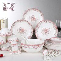 逐鹿 餐具套装 骨瓷碗碟套装中式家用碗具碗盘家用礼品 6件套