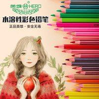 HERO英雄 778彩色铅笔铁盒筒装36色秘密花园填色笔水溶性彩铅
