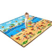 南极人 宝宝爬行垫加厚家用客厅婴儿爬爬垫防潮地垫儿童游戏垫 180*150*1cm