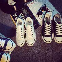 申马 平跟百搭白色帆布鞋女小白鞋春韩版低帮板鞋休闲鞋学生布鞋情侣鞋