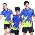 匹锐 羽毛球服情侣套装短袖男女新款 亲子装团购定制队服网球运动