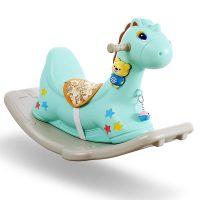 乐智在 SS008 木马音乐摇马 加厚环保儿童塑料室内摇摇宝宝摇马幼儿园木马玩具