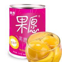 果秀 新鲜糖水砀山黄桃罐头整箱出口水果罐头湖南特产425g*3罐零食