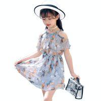 MANHUA BEAR漫画熊 童装女童夏季2017新款韩版儿童雪纺连衣裙公主裙10小女孩沙滩裙子