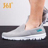 361°361度 男鞋一脚蹬懒人鞋豆豆鞋男士网鞋休闲鞋夏季透气网面运动鞋