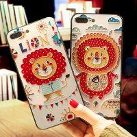 Hidog 苹果6s手机壳挂绳浮雕可爱卡通日韩全包iphone7plus软边女款