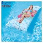 INTEX 68590-125 充气床垫 家用气垫床 户外折叠床水床午休床沙滩床垫便携床 183*69cm