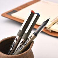 Snowhite白雪 直液式走珠笔学生用中性笔0.5黑色彩色签字笔针管水性笔红笔 12支