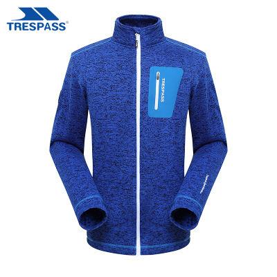 英国TRESPASS 秋冬户外新款抓绒衣 男款防风摇粒薄款双面运动外套