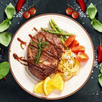 赤豪 澳洲家庭儿童牛排套餐团购10单片新鲜牛肉菲力沙朗刀叉2黑椒 1000g