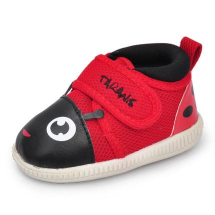 TARANIS泰兰尼斯 婴儿学步鞋软底宝宝叫叫鞋卡通幼儿不掉鞋子0-3岁春秋