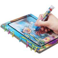 怀乐 3-6岁宝宝玩具环保涂鸦学习卡片填色图画画本儿童水画册画本