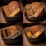 杏花楼 经典月饼组合蛋黄莲蓉月饼五仁月饼豆沙月饼奶油椰蓉月饼 四味400g