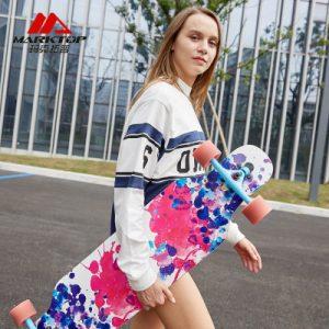 Marktop玛克拓普 长板 公路板成人男女生跳舞板初学者四轮刷街代步滑板车