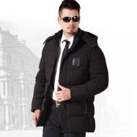 奥尔顿 中年男士棉衣爸爸冬装外套加厚中老年男装棉袄冬季中长款羽绒棉服
