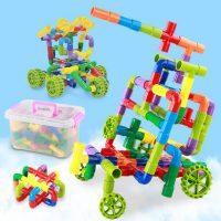 达拉 BD1141 拼插益智管道积木玩具 幼儿园早教女男孩宝宝儿童玩具 38件配收纳箱