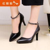 REDDRAGONFLY红蜻蜓 女鞋 春秋真皮尖头细跟浅口女单鞋 高跟鞋 多款可选