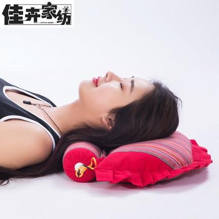 佳卉 颈椎枕头颈椎专用枕头成人修复颈枕护颈非治疗荞麦皮保健枕芯