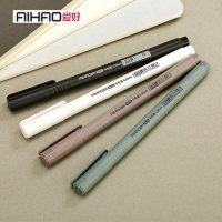 爱好 8629 韩国简约中性笔小清新创意可爱签字笔学生用品黑色签字水性笔 12支
