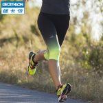 DECATHLON迪卡侬 运动裤女秋薄款跑步健身紧身裤七分裤速干裤打底裤KALENJI