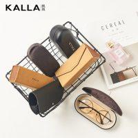 KALLA凯岚 眼镜盒 可折叠便携眼镜盒 手工复古简约软皮镜盒 送镜布