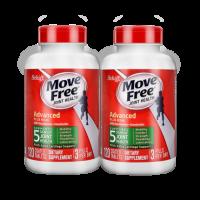 美国进口 Schiff Move Free益节 氨糖维骨力氨基葡萄糖MSM 绿盒120粒*2
