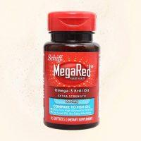 美国进口Schiff MegaRed欧米茄3高纯度磷虾油胶囊45粒虾青素非鱼油保健品